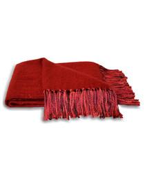 Chiltern red tassel throw 127 x 180cm