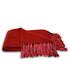 Chiltern red tassel throw 127 x 180cm Sale - riva paoletti Sale