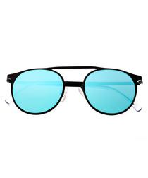 Avalon black & blue rounded sunglasses