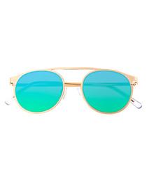 Avalon gold-tone & blue sunglasses