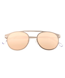 Avalon silver-tone rounded sunglasses