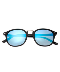 Champagne black & blue sunglasses