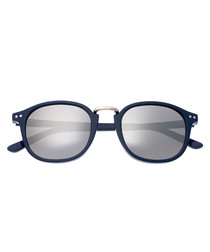 Champagne navy & silver sunglasses