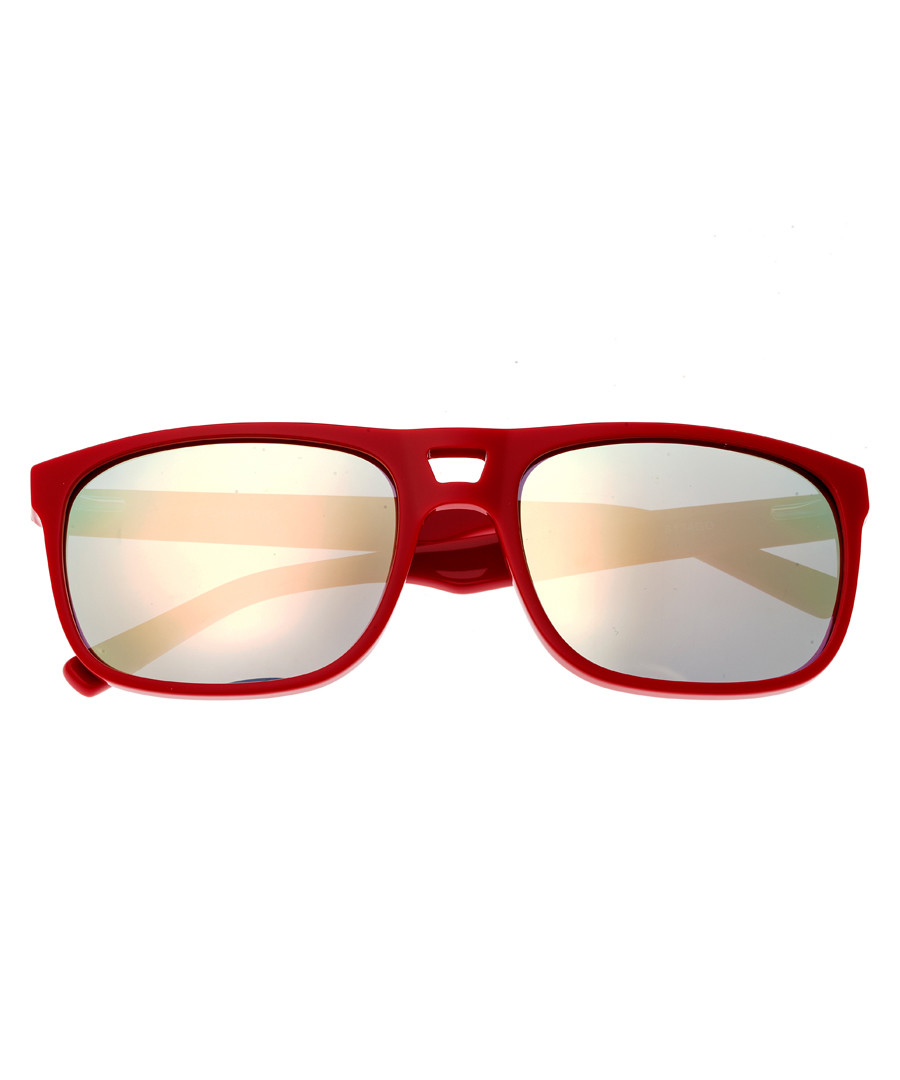 Morea red double bar sunglasses Sale - sixty one