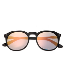 Vieques black rounded sunglasses