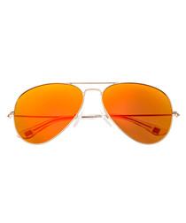 Honupu gold-tone & red sunglasses