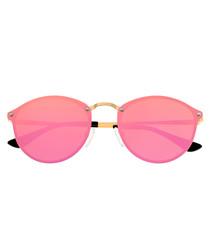 Picchu pink & gold-tone sunglasses
