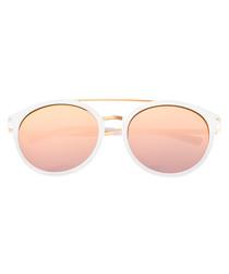 Moreno white & rose gold sunglasses