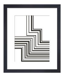 ZigZag framed print