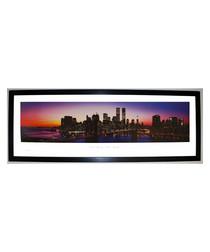 New York, New York sunset framed print