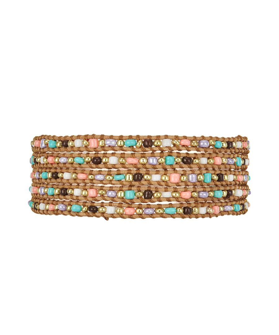 Multi-colour leather beaded bracelet Sale - Lucie & Jade