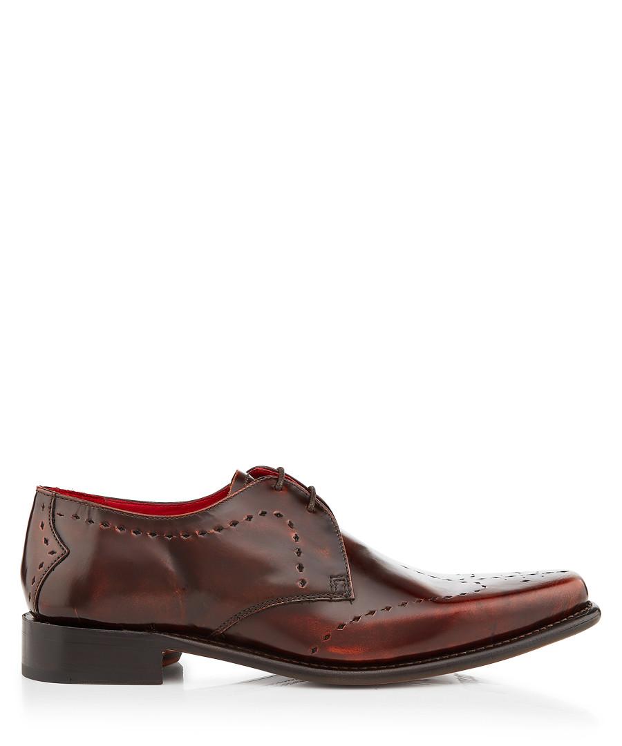Cocker brown leather Derby shoes Sale - jeffery west