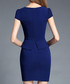 Navy blue short sleeve dress  Sale - ssxr Sale