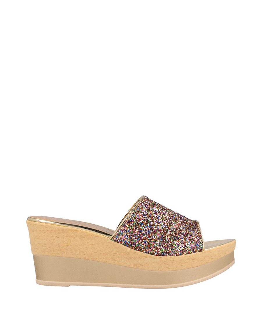 Multi-coloured textured wedges Sale - Roberto Botella