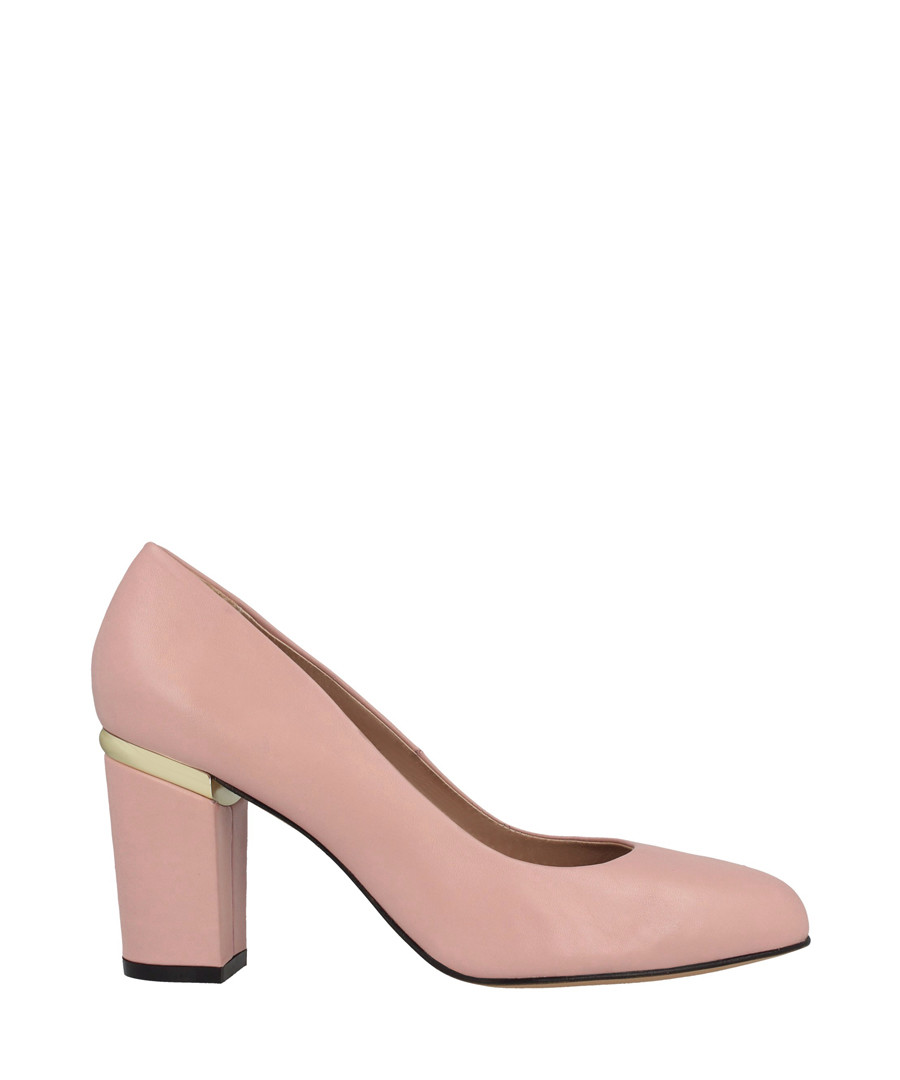 Pink leather block heels Sale - roberto botella