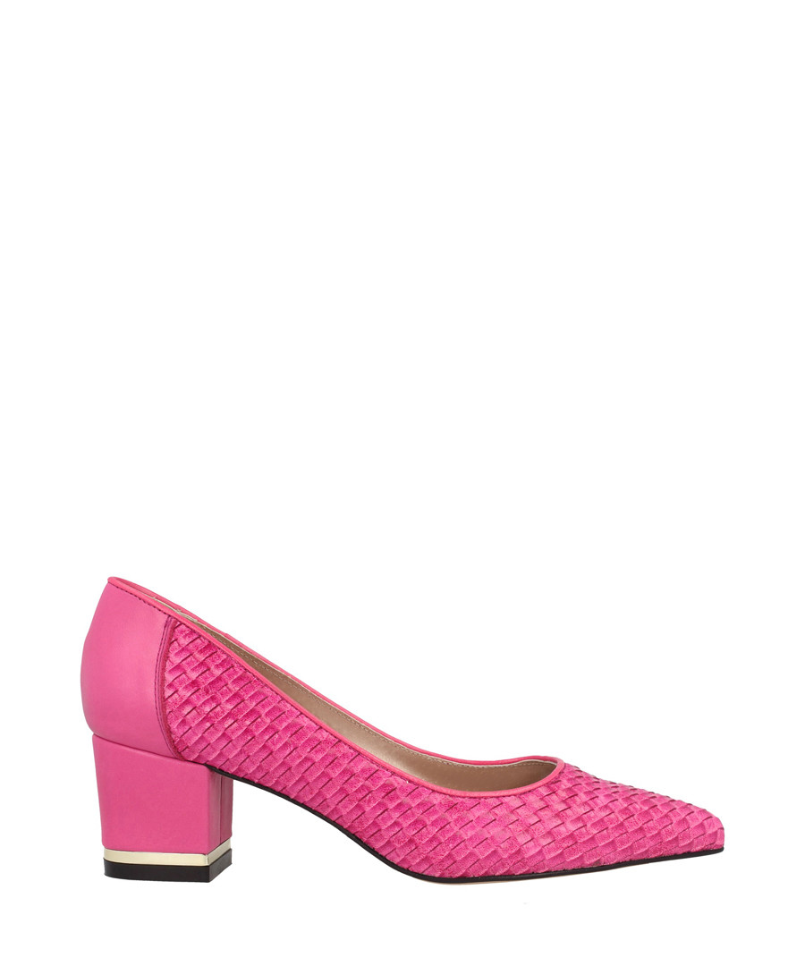 Fuchsia leather pointed block heels Sale - roberto botella