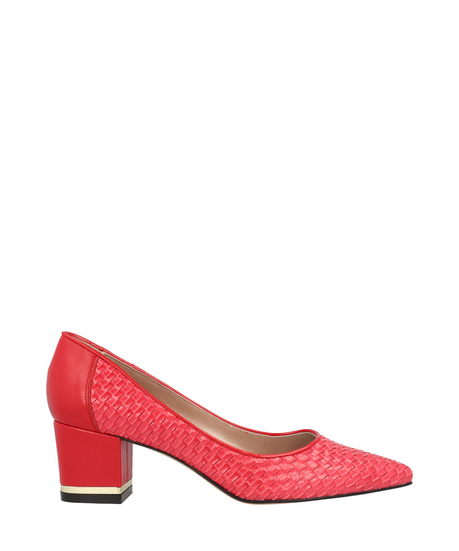 Red leather pointed block heels Sale - roberto botella