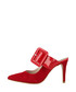 Red suede buckle heeled mules Sale - roberto botella Sale
