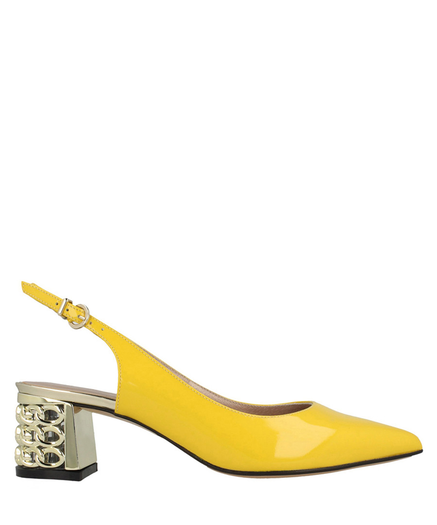 Yellow leather slingback sandals Sale - roberto botella