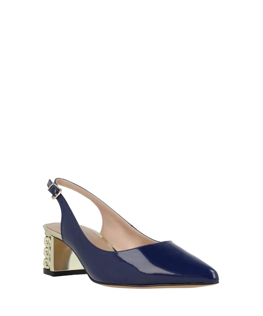 Navy leather slingback sandals Sale - roberto botella