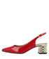 Red leather slingback sandals Sale - Roberto Botella Sale