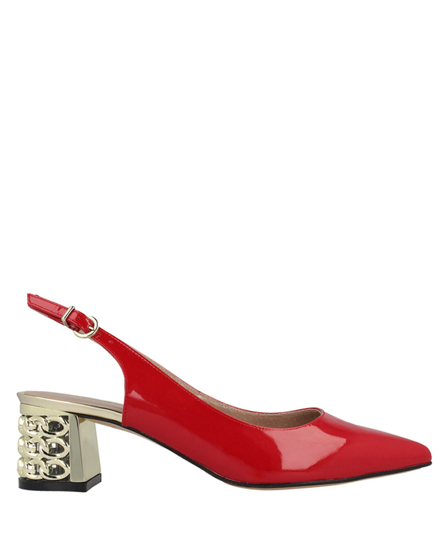 Red leather slingback sandals Sale - Roberto Botella