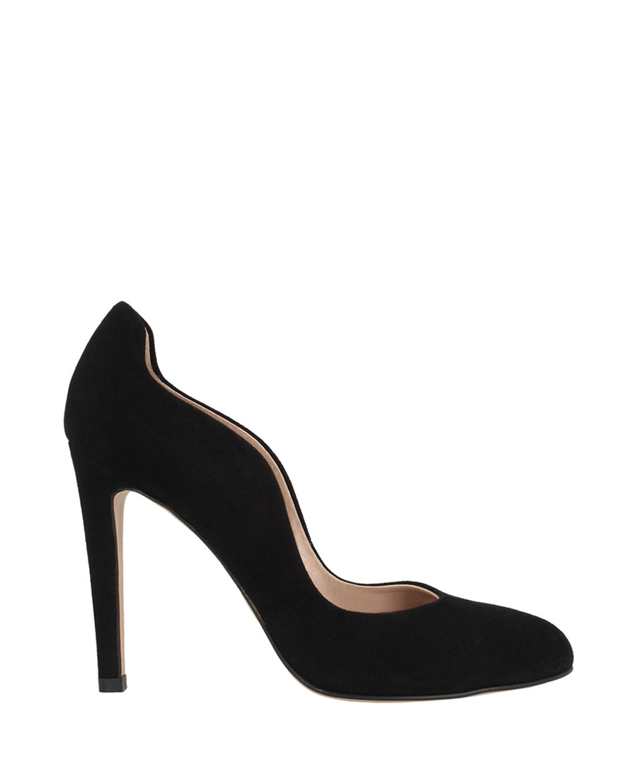 Black suede curve stiletto heels Sale - roberto botella