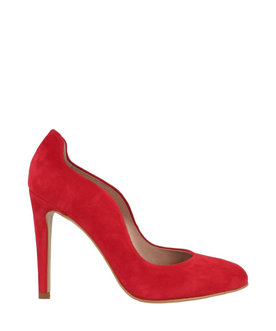 Red suede curve stiletto heels Sale - Roberto Botella
