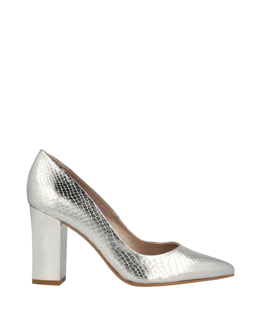 Silver-tone moc-croc block heels Sale - roberto botella