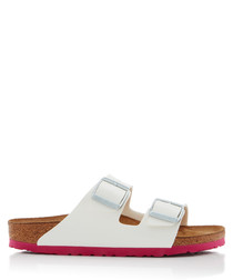 Arizona white narrow fit sandals