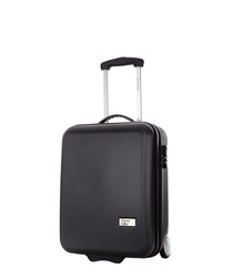 Black upright suitcase 48cm