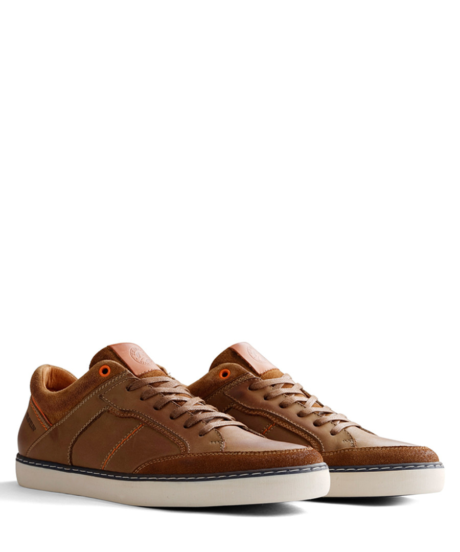 e16af26cba1f59 ... Corby brown leather lace-up sneakers Sale - Travelin ...