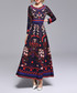Red & multi-colour print maxi dress Sale - Kaimilan Sale
