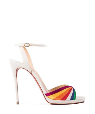 17d2b9c03eaf Christian Louboutin. Naseeba white leather strappy heels