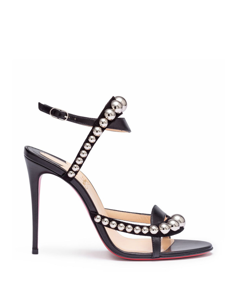 hot sale online 9d1e1 7e648 Discount Galeria black leather strappy heels | SECRETSALES