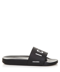 Men's black icon sliders