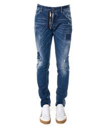 Men's blue cotton jeans