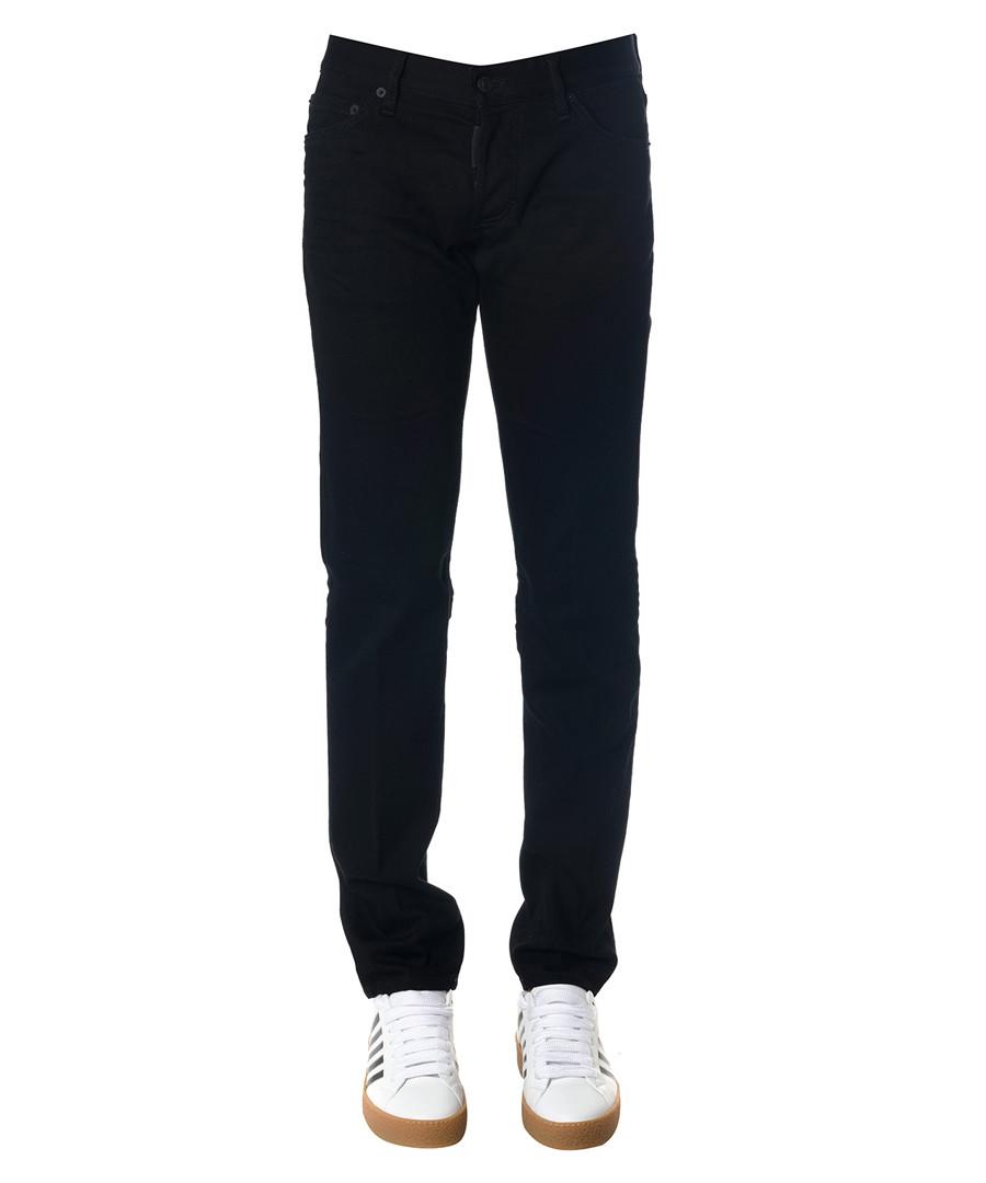 Men's black cotton straight jeans Sale - dsquared2
