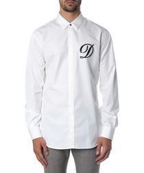 Men's white cotton logo shirt