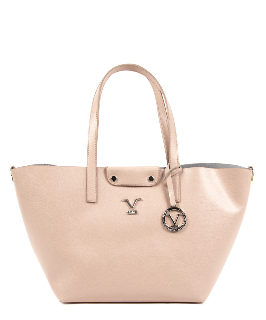 Pink leather trapeze shopper bag Sale - v italia by versace 1969 abbigliamento sportivo srl milano italia