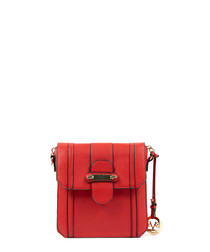 Red flap detail cross body bag