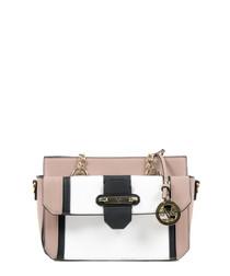 Pink & white colour block grab bag