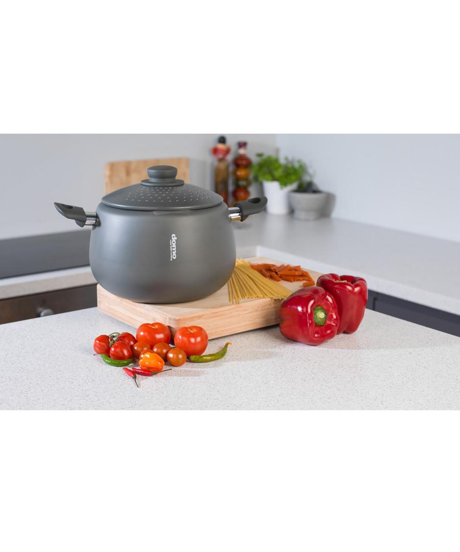 2pc black pasta pot & lid 24cm Sale - Domo