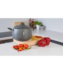 2pc black pasta pot & lid 24cm