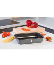 Black aluminium roasting pan 31 x 23cm
