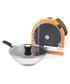 Steel stirfry pan & glass lid 28cm Sale - Thomas Sale