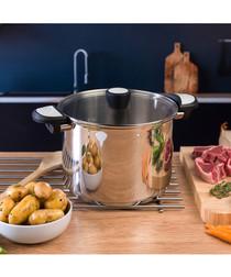 Lock & Pour steel stock pot & lid 24cm
