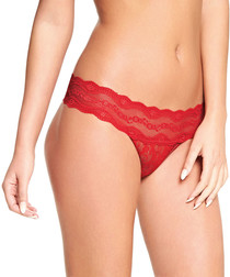 Lace Kiss red lace thong