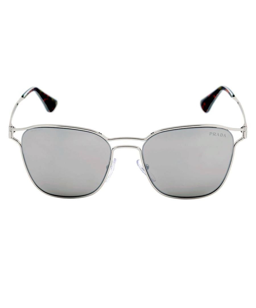 Pale gold & brown sunglasses Sale - prada