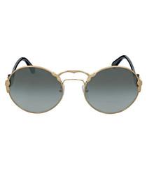 Gold-tone & grey sunglasses